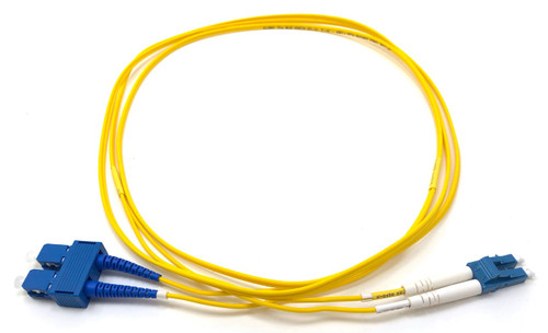 2m LC/SC Single Mode Duplex 9/125 Fiber Optic Cable