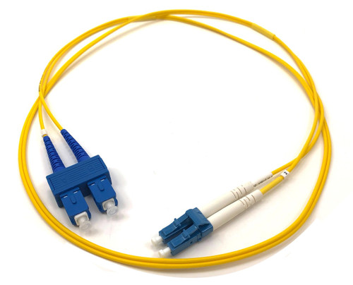 1m LC/SC Single Mode Duplex 9/125 Fiber Optic Cable