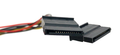 8in Dual SATA Power Adapter. SATA III compliant
