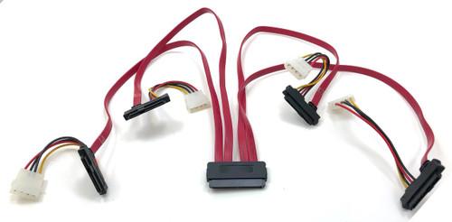 SAS Controller to SAS /SATA Hard Drive Cable 0.5 Meter (SFF-8484 to SFF-8482). SATA III (6Gb) compliant
