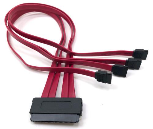 SATA Controller to SAS/SATA Backplane ( SATA (4) X 1 to SFF-8484) SATA III (6Gn) compliant