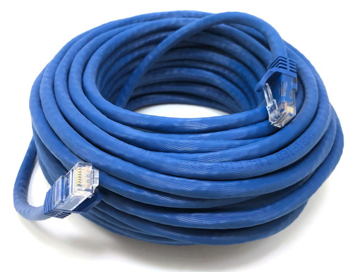 50ft Cat6A UTP Ethernet Patch Cable (Blue)