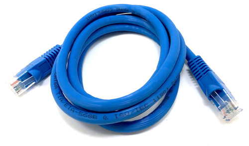 7ft Augmented Cat6A 10GbE UTP Cable - Blue