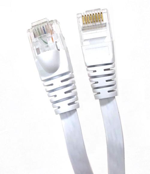50 Feet Flat CAT 6 UTP Cable - White