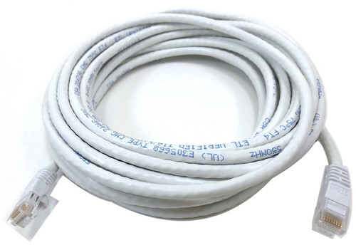 Category 6 UTP RJ45 Patch Cable White - 25 ft