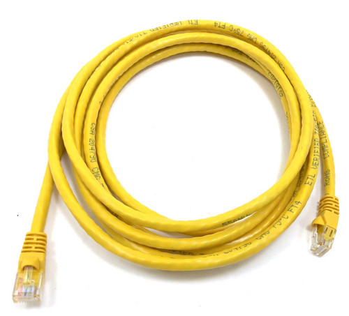 10ft Cat6 Molded Snagless RJ45 UTP Networking Patch Cable (Yellow)