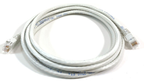 Category 6 UTP RJ45 Patch Cable White - 10 ft