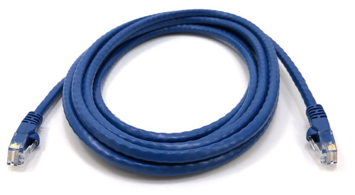 Category 6 UTP RJ45 Patch Cable Blue - 10 ft