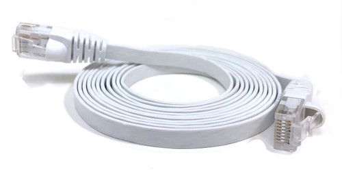 7ft Cat6 UTP RJ45 Flat Patch Cable (White)