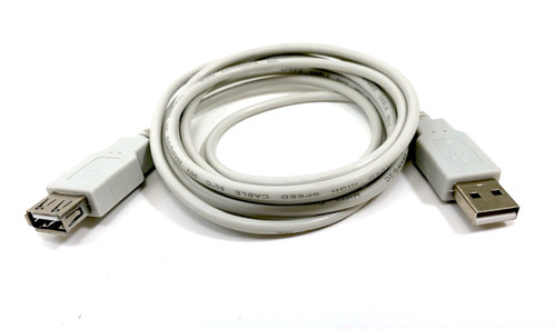 6ft USB 2.0 USB-A M/F Extension Cable (Beige)