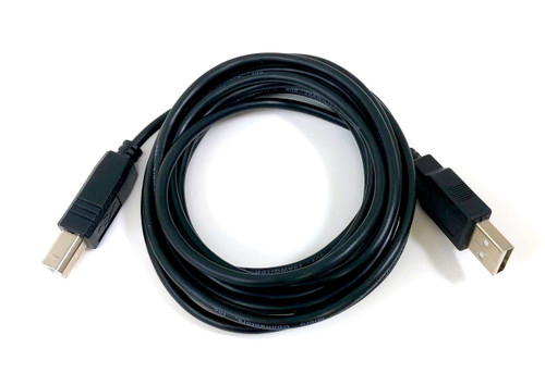 USB 2.0 A to B Type Cable - Black - 10ft