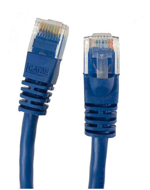Category 5E UTP RJ45 Patch Cable Blue - 100 ft