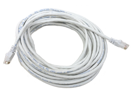 Category 5E UTP RJ45 Patch Cable White - 25 ft