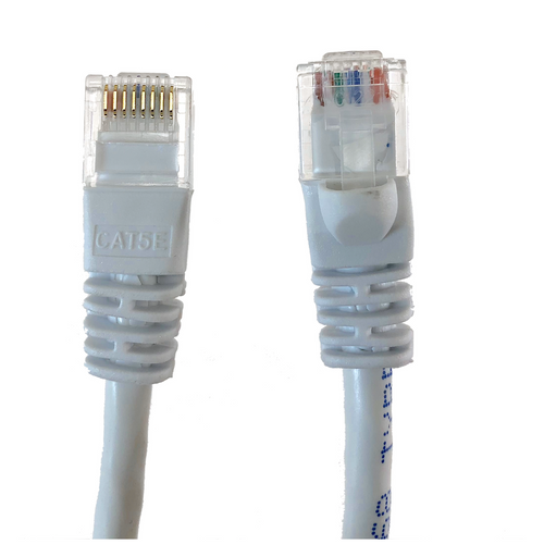 Category 5E UTP RJ45 Patch Cable White - 7 ft