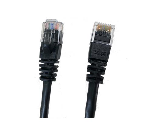 Category 5E UTP RJ45 Patch Cable Black - 7 ft