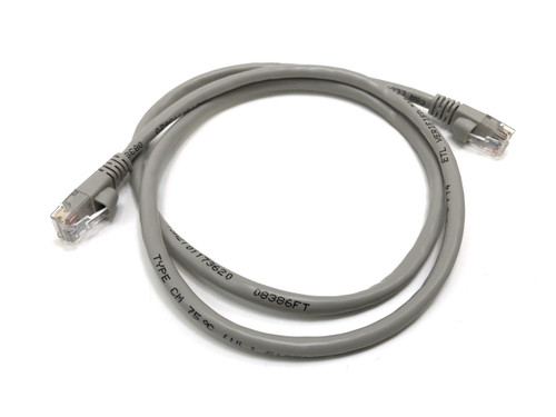 3ft Cat5E UTP Patch Cable (Gray)