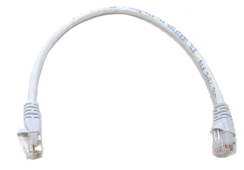 1ft Cat5E UTP Patch Cable (White)