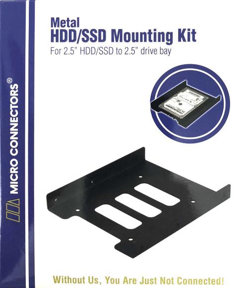 """2.5"""" Metal HDD/SSD Mounting Bracket Kit"""