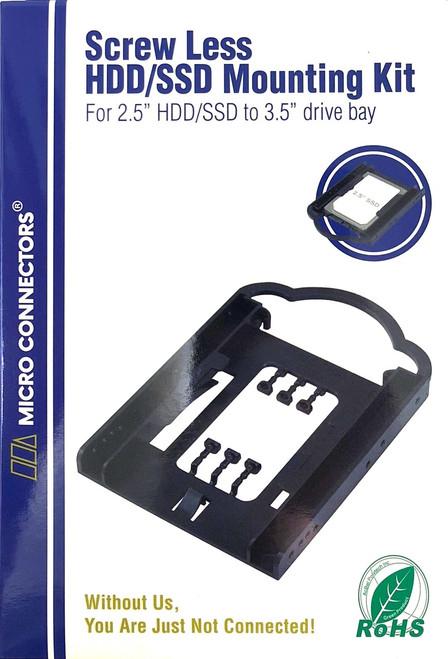"Single 2.5"" Screwless HDD/SSD Mounting Bracket Kit"