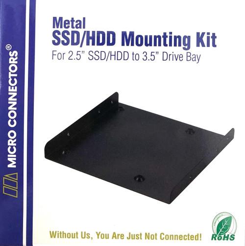 """Single 2.5"""" Metal HDD/SSD Mounting Bracket Kit"""
