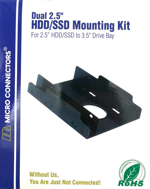 "Dual 2.5"" Plastic HDD/SSD Mounting Bracket Kit (L02-252)"
