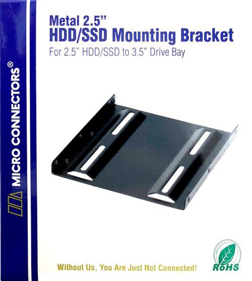 """Metal 2.5"""" HDD/SSD Mounting Bracket Kit"""