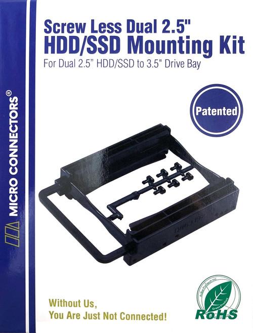"Dual 2.5"" Screwless HDD/SSD Mounting Bracket Kit"
