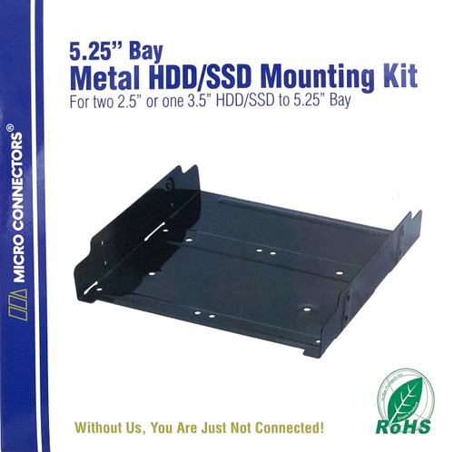 "Dual 2.5""/Single 3.5"" Metal HDD/SSD Mounting Bracket Kit"
