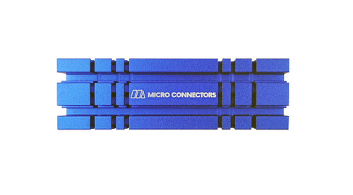 M.2 2280 SSD Heat Sink Kit (Blue)