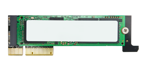 Low-Profile M.2 NVMe SSD to PCIe x4 Adapter with Heat Sink for 1U
