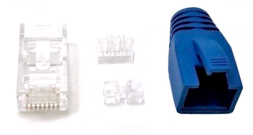 Cat6A RJ45 Modular Connectors with Boots and Load Bar (10 Pack)