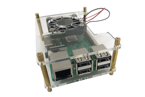 Acrylic Stackable Raspberry Pi 3 and 4 Case with Fan