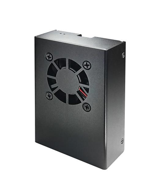 Micro Connectors Aluminum Raspberry Pi 3 Model B/B+ Case with Fan, Black
