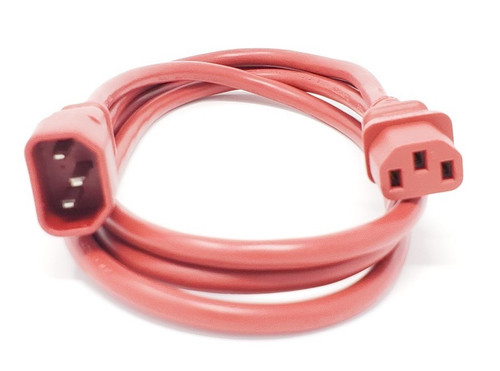 6ft AC Power Extension Cord (C13 to C14) (Red)