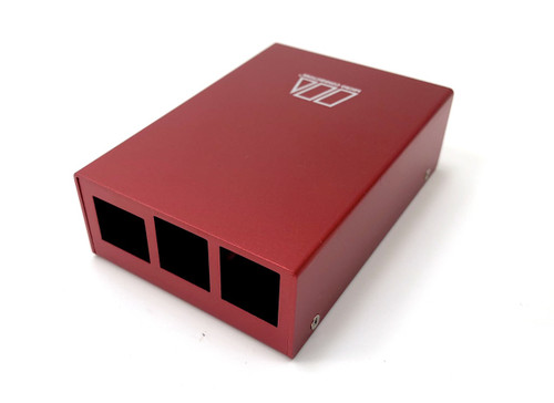 Aluminum Raspberry Pi 3 Case for Model B/B+ with UL Approved On/Off Switch 5V/2.5A Power Adapter - Red