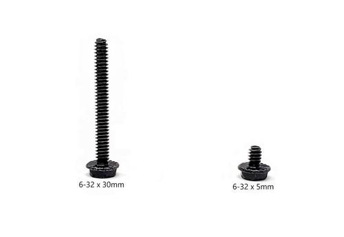 40 Pcs Radiator Screw Set, 6-32 UNC, Mixed 5mm x 20 & 30mm x 20, Black