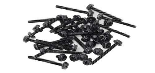 40 Pcs Radiator Screw Set, 6-32 UNC, Mixed 5mm x 20 & 30mm x 20, Black