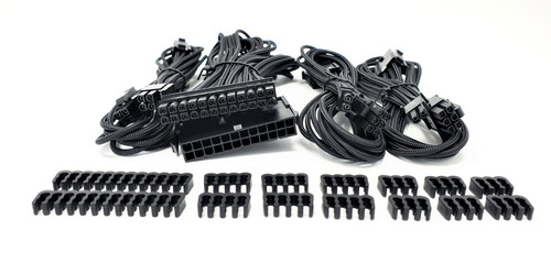 Premium Sleeved PSU Cable Extension Kit (Black)