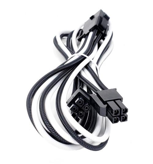 Premium Sleeved PSU Cable Extension Kit (White/Black)