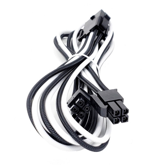 Premium Sleeved PSU Cable Extension Kit (White/Black)
