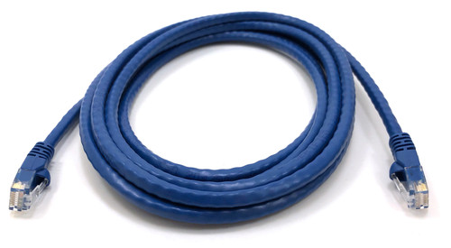 Micro Connectors, Inc. 10-feet Cat 6 Molded Snagless RJ45 UTP Networking Patch Cable - Blue -10 Pack