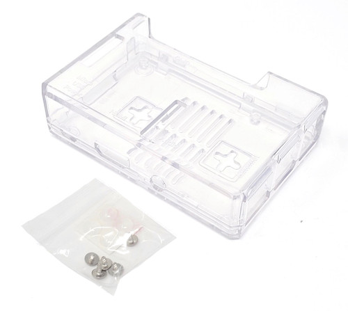 Raspberry Pi 3 Model B+ Plastic Case Kit with Power Adapter & HDMI Cable (Clear)