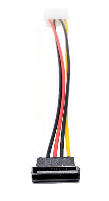 6in 4-Pin Molex LP4 to Left Angle SATA Power Adapter Cable