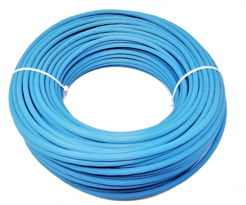 250ft Cat6A Solid UTP Bulk Ethernet 23AWG Cable Networking Kit (Blue)