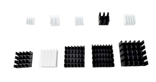 50pcs Assorted Heat Sink Set for Development Boards