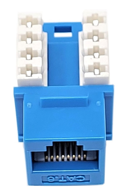 Cat6 Punch Down Keystone Jack (Blue, 10 Pack)