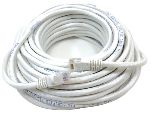 75 Feet Category 6 UTP RJ45 Patch 24AWG Cable -White