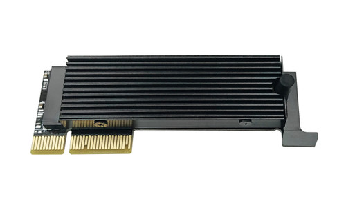 Low-Profile M.2 NVMe SSD to PCIe 4.0 Adapter with Heat Sink for 1U