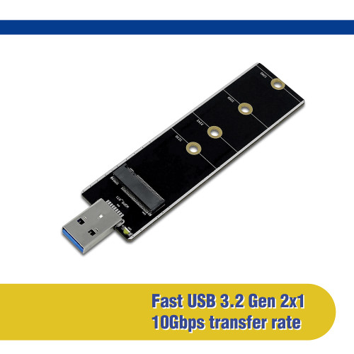 M.2 NVMe & SATA SSD to USB 3.2 Gen 2x1 Type-A Adapter (NVME-S32USBA)