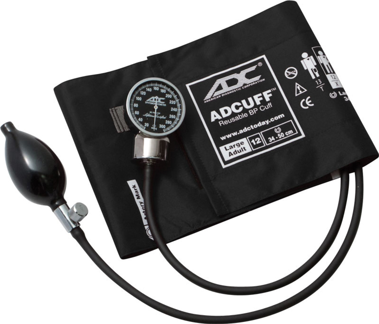 ADC 700 DIAGNOSTIX Aneroid, Large Adult Cuff, 700-12XBK